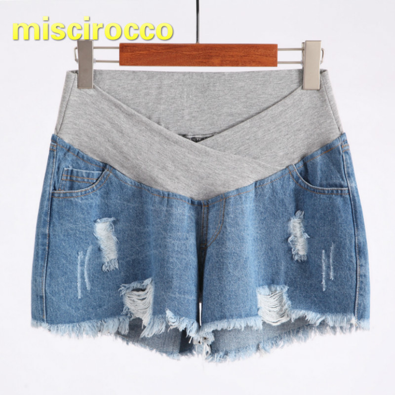b5bb41f69b 2018 Summer Pregnant Woman Soft Denim Shorts Thin Low waisted Jeans  Maternity Pants High Elasticity Comfortably Breathable-in Shorts from  Mother & Kids on ...