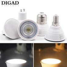 DIGAD 4pcs/set E27 E14 MR16 GU5.3 GU10 Lampada LED Bulb 6W 220V Bombillas Lamp Spotlight Lampara Spot Light Chrismas