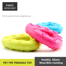 TPR eco-friendly pet toy Rubber tri-angle bite molar relax pet toy molar toy bite resistance 1pc/lot