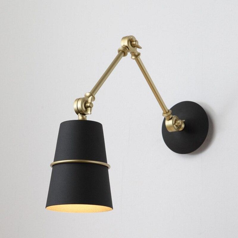 golden lighting wall sconces adjustable bedside lamp wall ...
