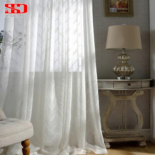 Modern Geometric Sheer Curtains For Living Room Translucidus