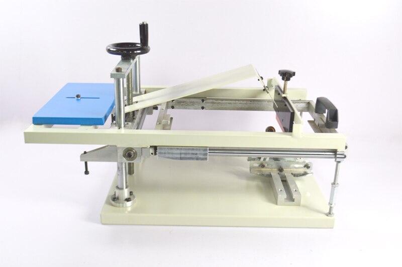 Manual Cylinderical Screen Printing Press Pen Mug Bottle Printer Press Bottle Cup Pen Surface Curve Press