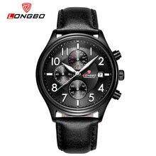 New LONGBO Men's Watch top brand Single Display Date Luxury Quartz Leather casal Wristwatch Relogio Masculino 80173 fashionable