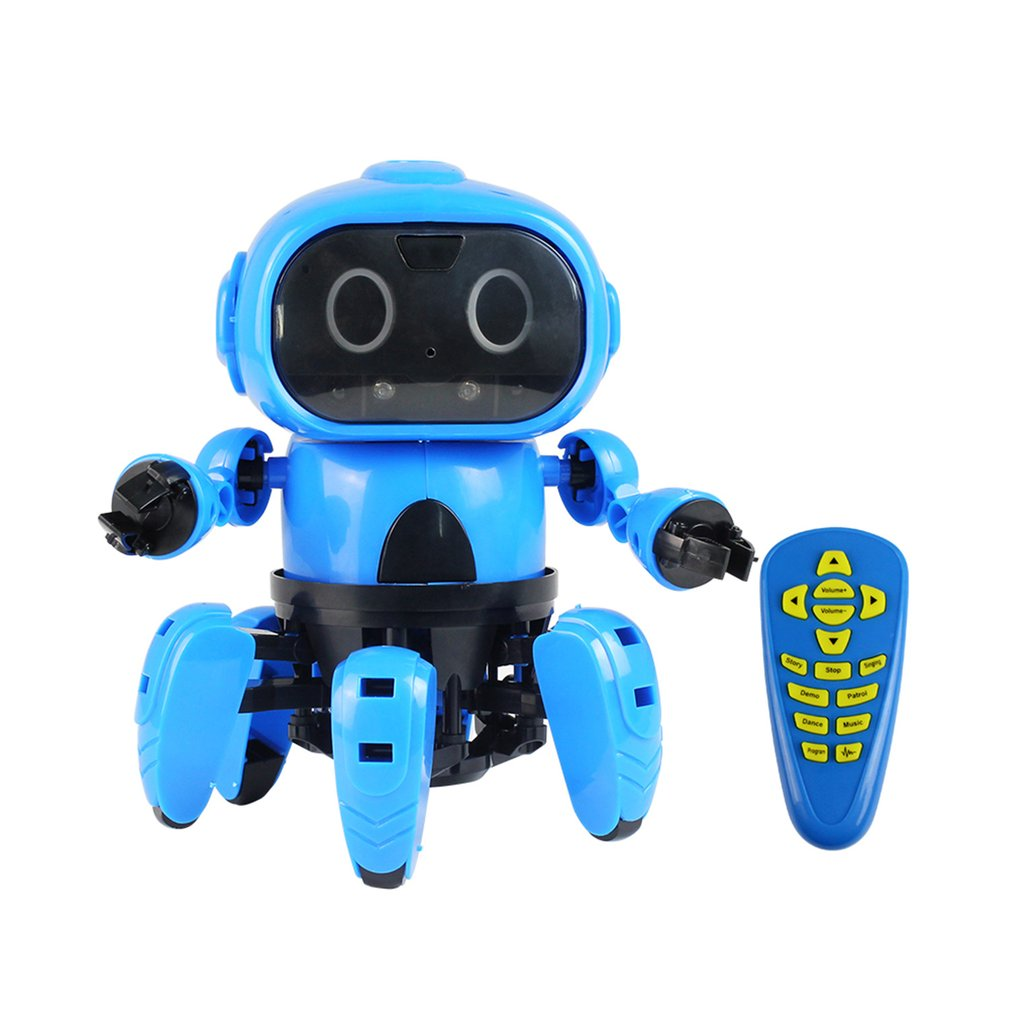 Smart Induction 6-Legged Electric RC Robot DIY Unassembled Kit Gesture Sensor Obstacle Avoidance Kids Remote Control Toys
