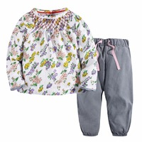 Baby Girls Sets 100 Cotton Long Sleeve Tops Pants 2017 Brand Spring Autumn Children Clothing Sets
