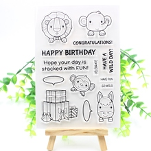KSCRAFT Lucky Dog Transparent Clear Silicone Stamp/Seal for DIY scrapbooking/photo album Decorative clear stamp sheets