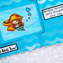 YaMinSanNiO Mermaid Metal Cutting Dies and Clear Stamps For Card Making Craft Dies Scrapbooking Album Photo Dies Cuts New 2019