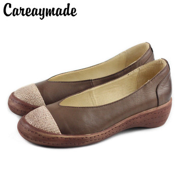 Careaymade-Genuine leather Fltas shoes,Hand-polished old vintage single shoes,The retro art mori girl Casual Casual shoes
