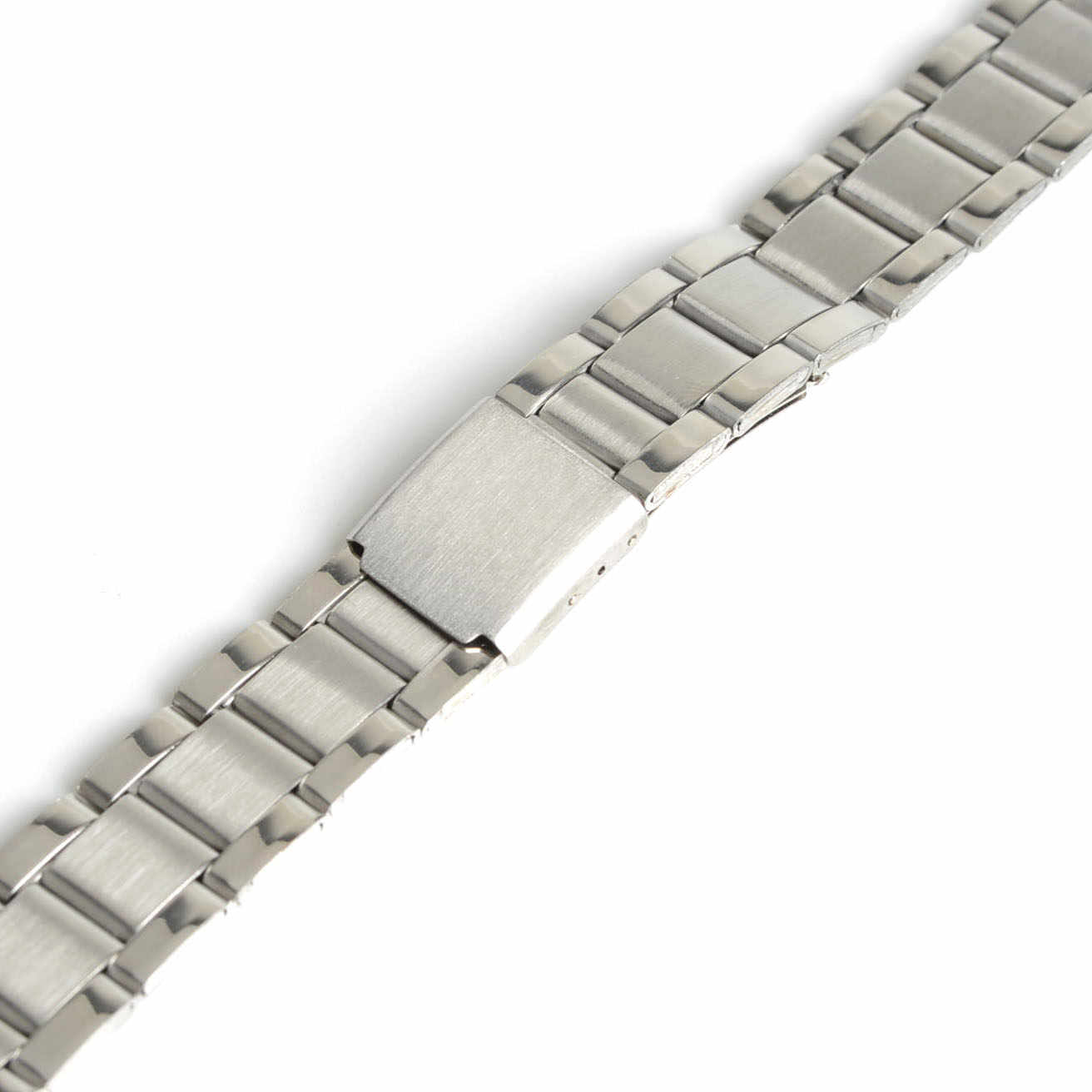 2019 New Men Women 12mm Silver Stainless Steel Watch Band Strap Bracelet Straight End Model 1,Wrist Watchband SB0578