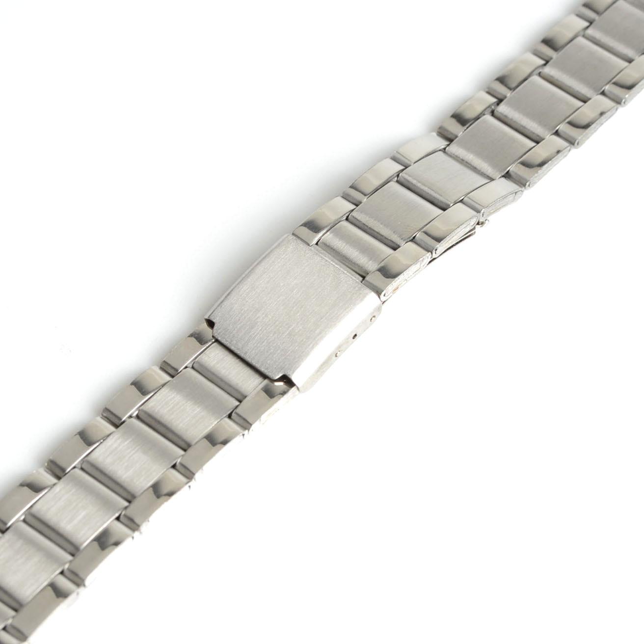 2019 New Men Women 12mm Silver Stainless Steel Watch Band Strap Bracelet Straight End Model 1,Wrist Watchband SB0578