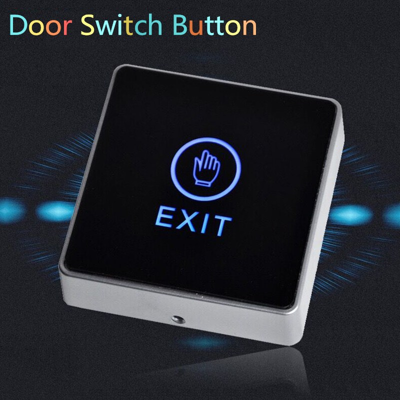 New Arrival Generic DC 12V NC NO Release Button Switch Square Touch Sensor Door Exit with LED Light Door Switch Button CM115 dc 12v led display digital delay timer control switch module plc automation new