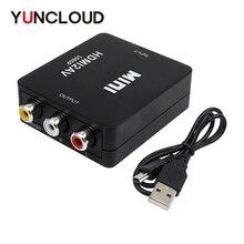 Yuncloud HDMI К AV скейлер 1080 P конвертер HDMI для RCA AV/CVSB L/R адаптер компонентного видео HDMI2AV HD Поддержка NTSC PAL