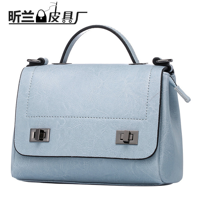2016 Women Shoulder Bag New Fashion Leather Handbag Oil Wax Leather Portable Shoulder Diagonal Bag Lady bags sac luxe