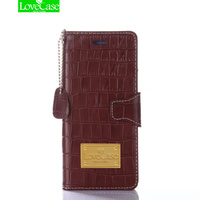 LoveCase Crocodile Skin Genuine Leather Wallet Style Case For Apple Iphone X 6s 7 8 Plus