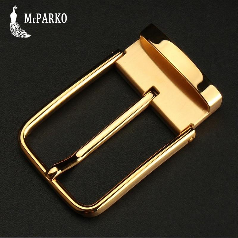 Fashion Stainless Steel Belt Buckle For Men Metal Waist Belt Buckle Without Belt Golden Pin Buckle 3.8cm 3.5cm Inner Diameter