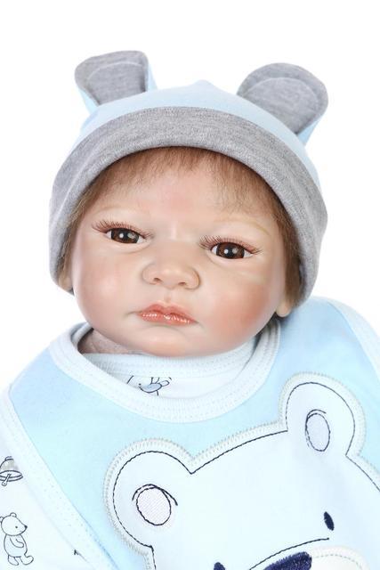 55cm Soft Silicone Dolls Toys Gifts Reborn Lifellike Nowborn Doll Nanny Training Dolls Kid's DIY Doll Christmas Gifts