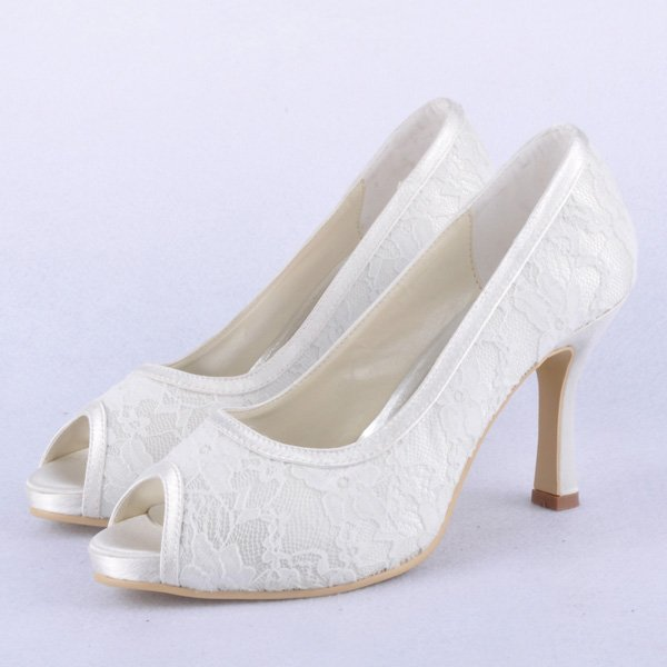Lace Upper Stiletto Heel Pumps With Sparkling Glitter Wedding Shoes More Colors Available Plus Size Custom Handmade