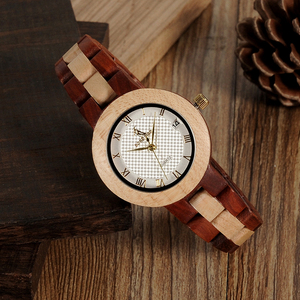 Image 3 - BOBO VOGEL Hout Horloge Vrouwelijke Vrouwen M19 Rose Sandaal Minimale Jurk Quartz Horloge Top Brand Luxe часы женские relogio feminin