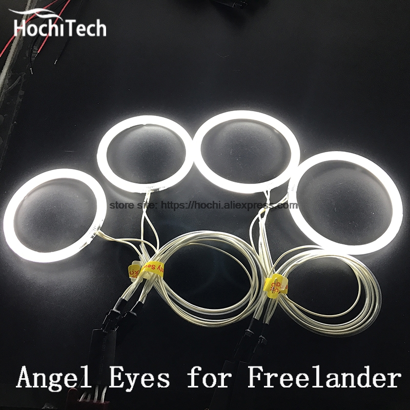 HochiTech Excellent CCFL Angel Eyes Kit Ultra bright headlight illumination for Land Rover Freelander 2 L359 2007 - 2012 for ford edge 2011 2012 excellent ultrabright headlight illumination ccfl angel eyes halo ring angel eyes kit