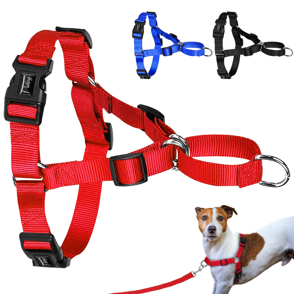 No Pull Dog Harness Nylon Easy Walking Dog Harnesses Dogs Training Vest For Small Medium Large Dog Pitbull Terrier