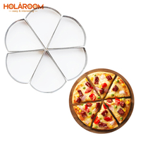 6pcs Practical Pizza Fruit Pie Cookie Mould Sector Stainless Steel Mousse Cake Making Molds DIY Pastry Dessert Decoration Mold