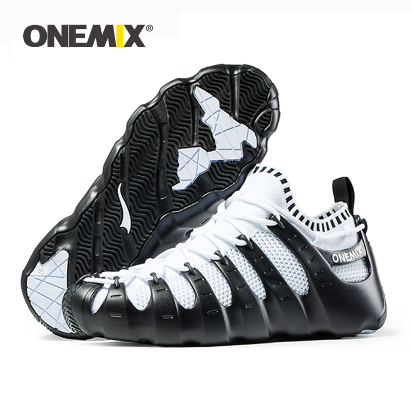 ONEMIX Rome shoes Men Multi function Running Shoes Air MeshBreathable Knitting Sneakers Sandals Slippers Jogging Shoes