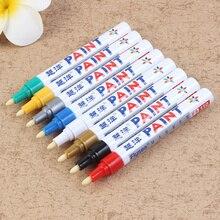 12 colores de pintura de coche bolígrafo reparador para arañazos pluma removedor de pintura marcador neumático de coche neumático de caucho toque pluma pintura cuidado