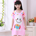 2016 New Lovely Cartoon Children Garment Children Pajamas for Girl Night Skirt Summer Vest Skirt Home Furnishing Nightwear
