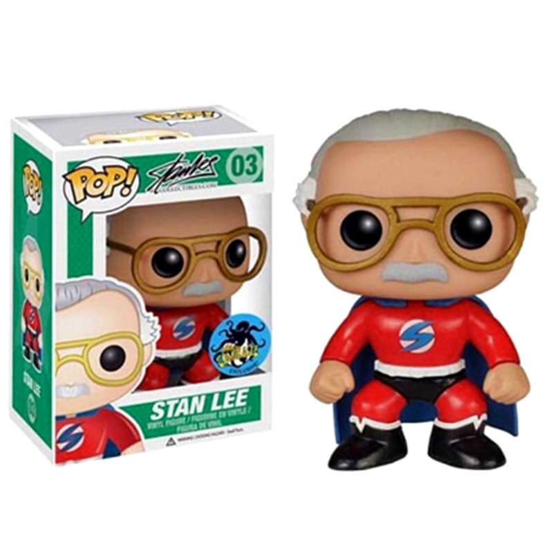 Funko-POP-Stan-Lee-Red-Superhero-Pop-Vinyl-Exclusive-Action-Figures-Collectible-Model-Toys-For-Children