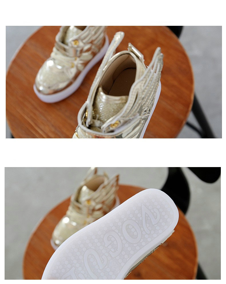 17 Autumn Kids LED luminous Sneakers Glowing Brand Child Breathable Light Flashing Baby Boys Casual Shoes for girl size 21~30 11