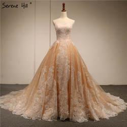 Новые Дизайн Винтаж Аппликации блестками свадебные платья 2018 Sexy с открытыми плечами высокого класса люкс платья настоящая фотография