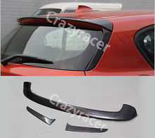 F20 F21 Roof Lip Spoiler Wing Rear Window Fin for BMW P Style Carbon Fiber 3Pcs 2012-2013