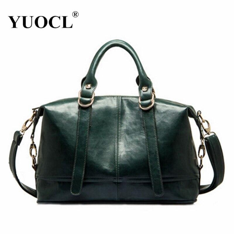 YUOCL Designer Women Leather Handbag  New Popular Fashion PU Leather Women Shoul