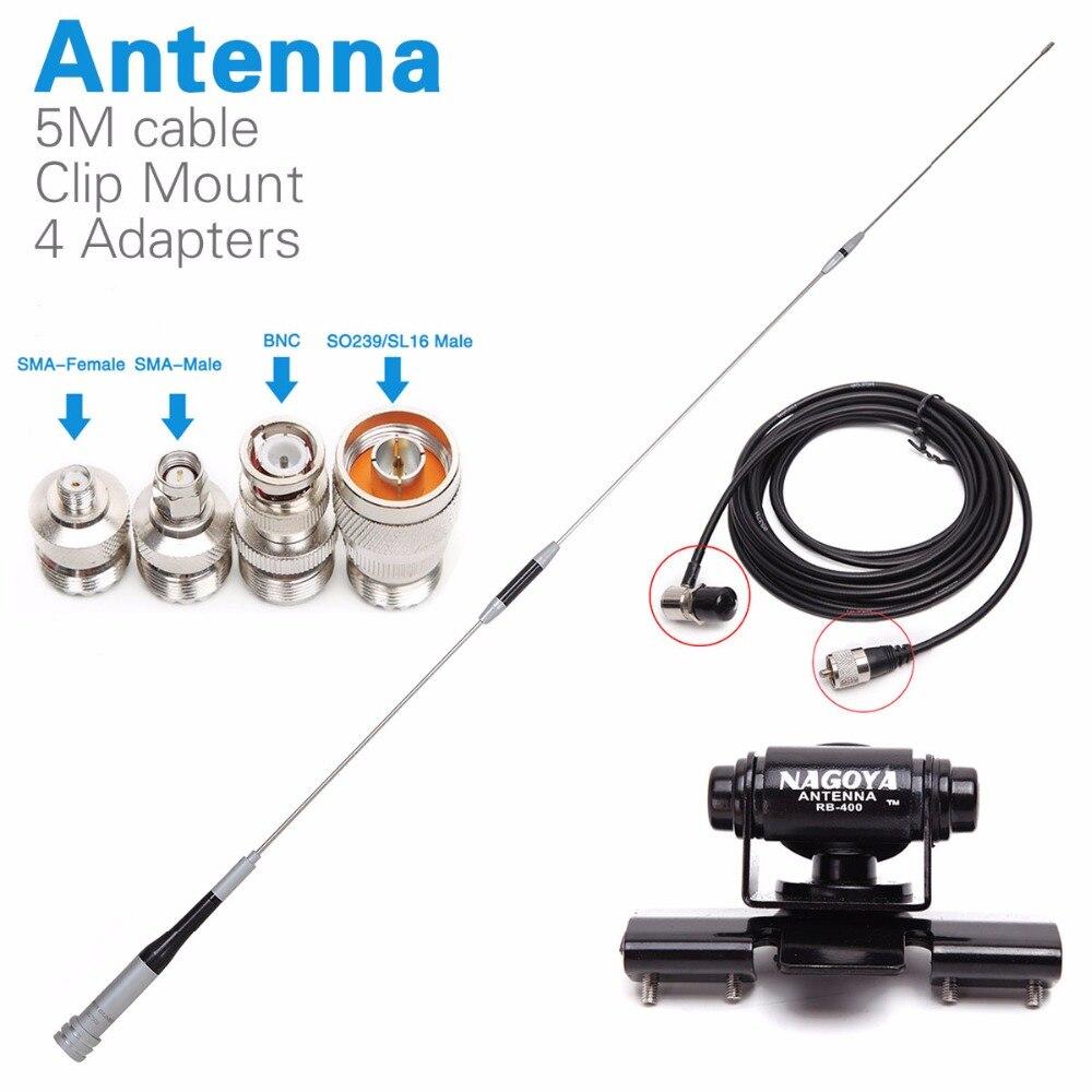 Diamond SG 7500 Dual Band Antenna Clip Mnout SMA F SMA M BNC SL16 4 Adapters
