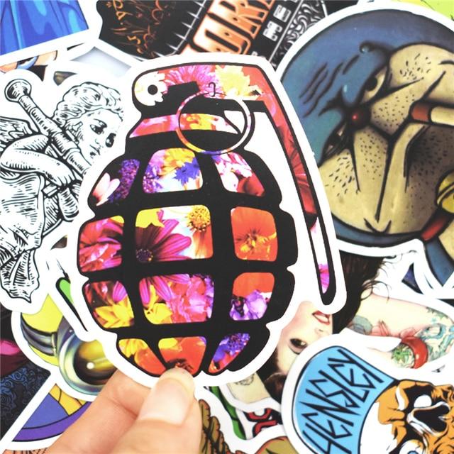 100 pièces Mode Graffiti Autocollants pour Skateboard Vélo Moto Voiture Style Ordinateur Portable Bagages Décor À La Maison Autocollants Pas Aléatoire Autocollant