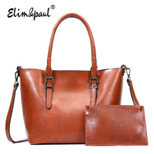 ELIM&PAUL brand shoulder bags large capacity women bags zipper composite bag for women leather handbags tote bags ladies YL-B03