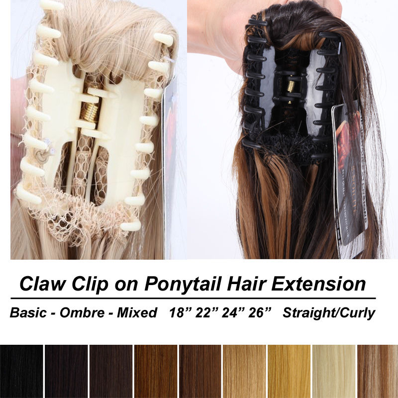 Snoilite 18 26 Inch Synthetic Thick Curly Long Ponytail Hair