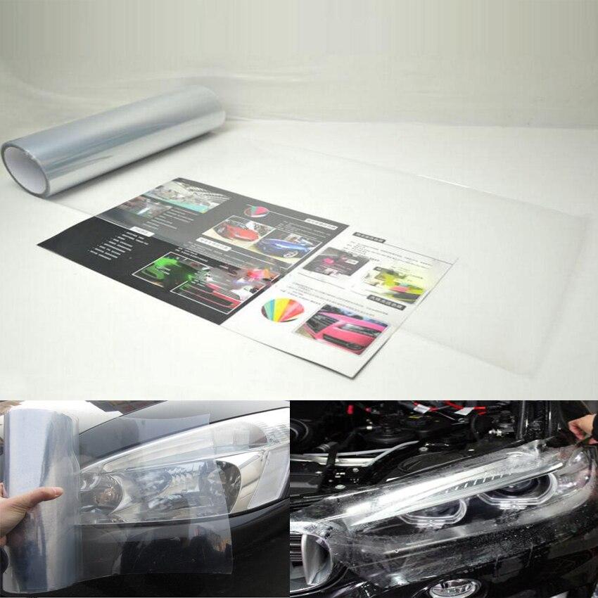 YAQUICKA Lumière de queue de phare de voiture Transparent Vinyle Wrap Film Feuille de couverture autocollant superposition 30x100 CM pour BMW Toyota Honda Jeep etc.