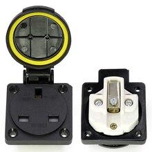 UK round cover waterproof socket BS1363 British standard outdoor 13A 250 Socket