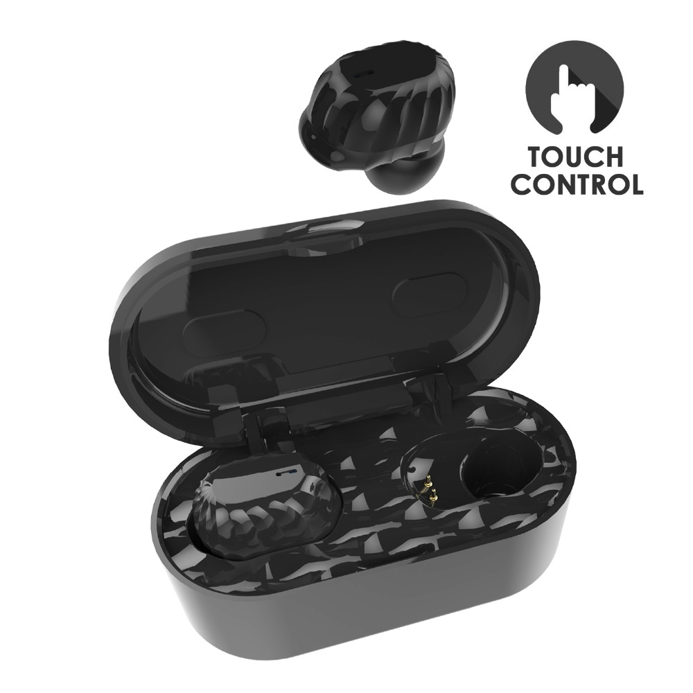 WALLYTECH AirFree Bluetooth V4.2 True Wireless Earbuds with 15H Playtime Deep Bass HiFi 3D Stereo Sound, Built-in Mic w/Touch enceinte altavoz bluetooth receiver hifi stereo 4 ohm with line in and built in battery in 5 colors