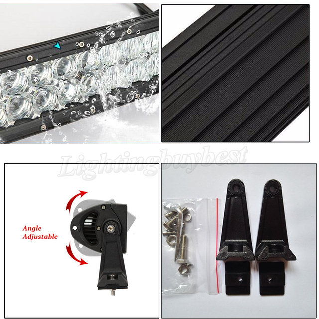 """22"""" 32"""" 42"""" 50"""" 52"""" inch LED Straight/Curved Work Light Bar Combo Beam 5D RGB Strobeflash Music Multicolor Change Bluetooth"""