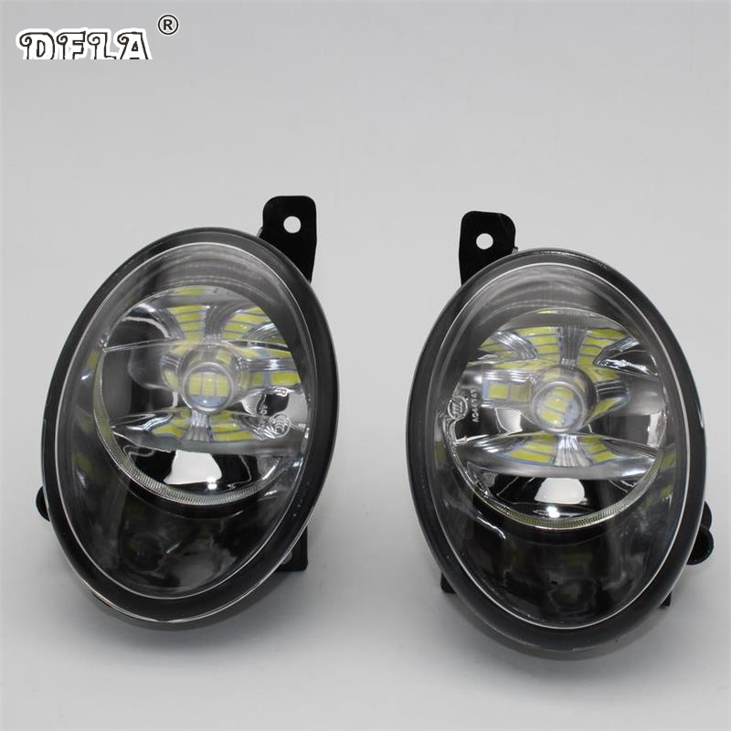 Car LED Light For VW Transporter Multivan T5 Facelift T6 2010 2011 2012 2013 2014 2015 Car-Styling Front LED Fog Light Fog Lamp free shipping new pair halogen front fog lamp fog light for vw t5 polo crafter transporter campmob 7h0941699b 7h0941700b