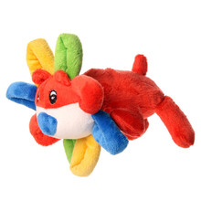 Cute Animal Doll Flower Lion Dog Puppy Cats Chew Toy Woven Plush Toy For Small Pet Animals