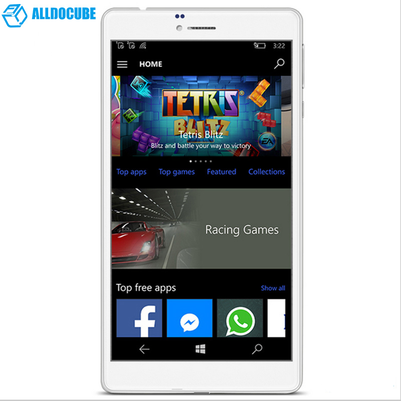 6.98 pulgadas tablet pc de windows 10 original cube wp10 os móvil 4g Llamada de