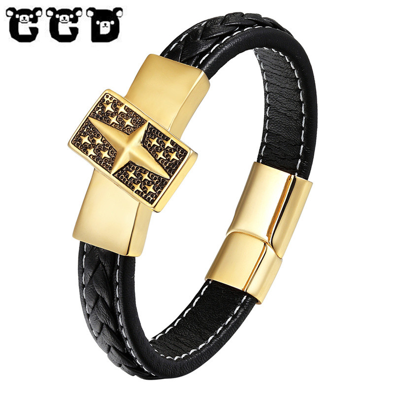 Mens Bracelet Healing Stainless Steel Silver Gold Color Golf Bracelets Bangles for Men Drop-Shipping Health Pulseira Jewelry