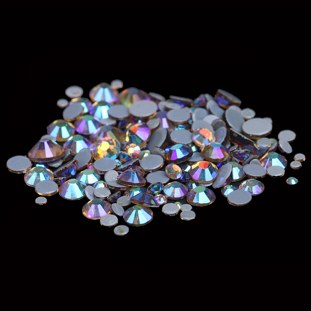Hotfix Rhinestones Crystal Rhinestone With Glue Backing Iron On Perfect For Clothes Shoes Dresses Light Topaz AB Color
