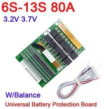 DYKB 6S  13S 35A 50A 80A w/bilans BMS LiFePO4 Li ion pokrywa baterii litowej 24V 36V 48V 7S 8S 10S 12S narzędzie elektryczne ups