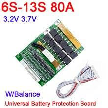 Dykb 6s 13s 35a 50a 80a com equilíbrio bms lifepo4 li ion bateria de lítio proteção 24v 36v 48v 7s 8s 10s 12s ferramenta elétrica ups