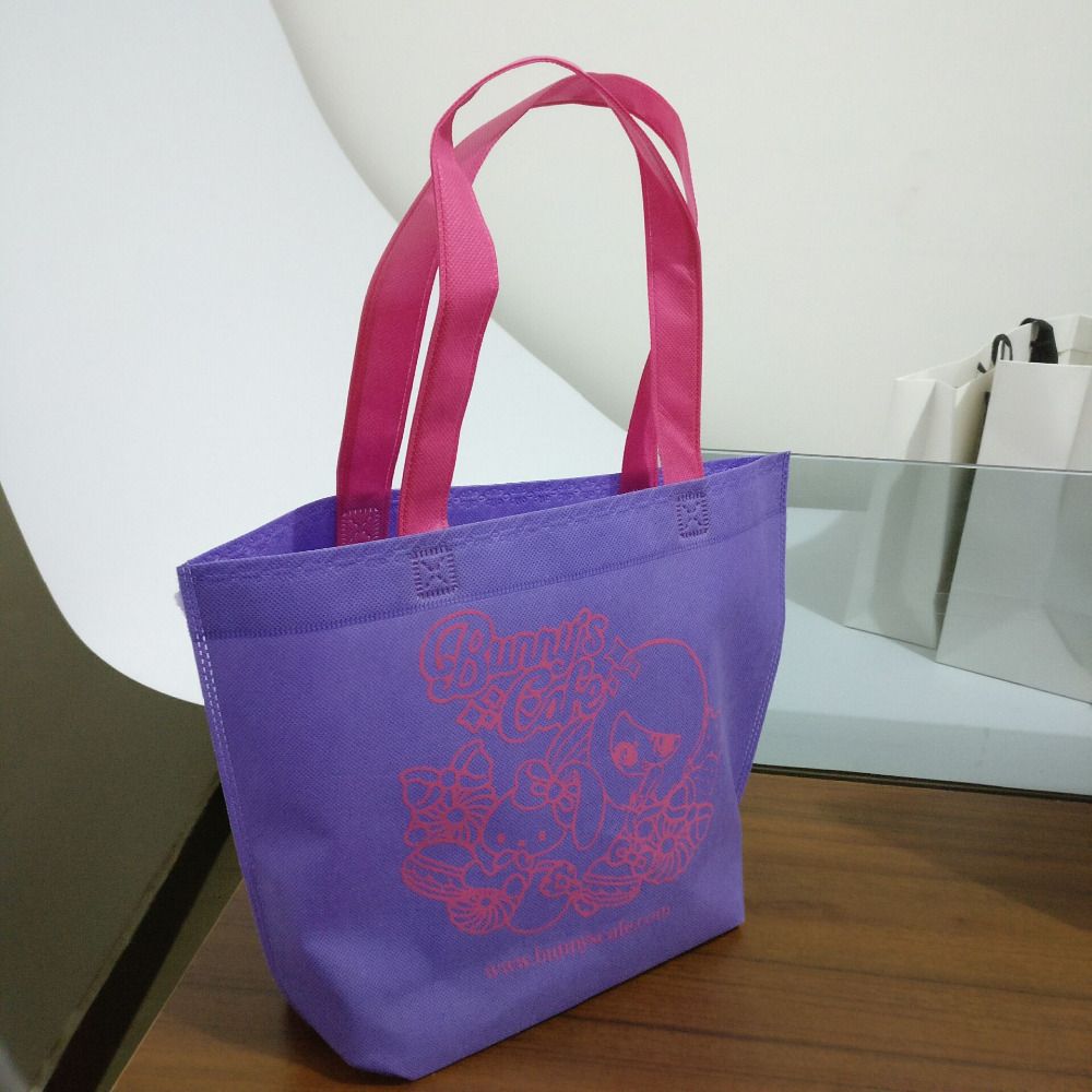 26H*33*10cm Custom Eco Reusable Shopping Bags Random Cloth Fabric Grocery Packing Recyclable Bag Simple Design Tote Handbag
