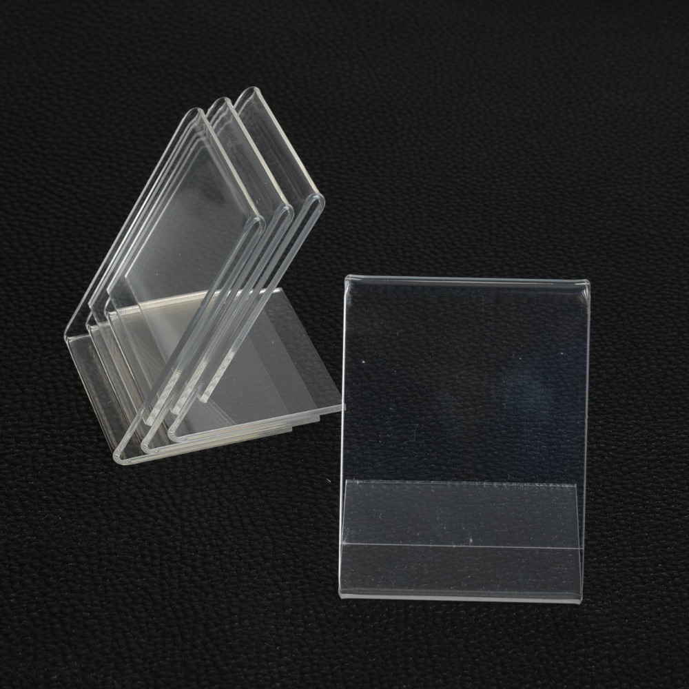 New 10pcs 5*7CM Clear Acrylic Namecard Price Tag Advertisement Display Stand Holder,Showcase Fashion Jewelry Display